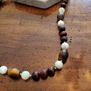 Cats eye stone necklace